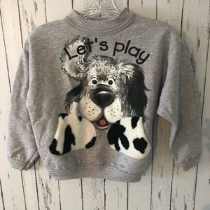 Vintage kids let's play dog Crewneck